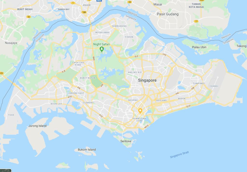 google map singapore