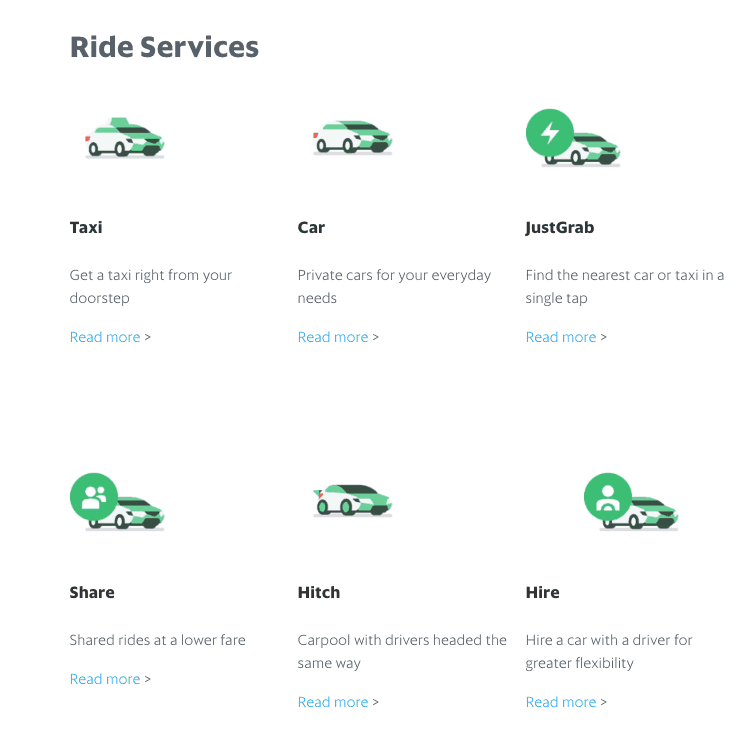 grab transport app singapore