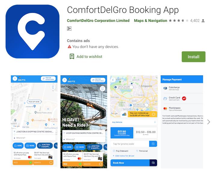 comfort taxi booking app