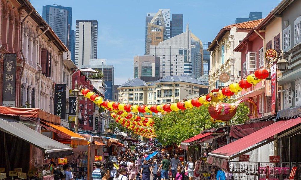 chinatown - singapore - bored